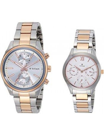 Titan 17332570KM01 Bandhan Analog Couple Watch
