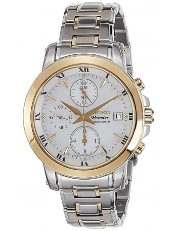 Seiko Premier Chronograph White Dial Women's Watch