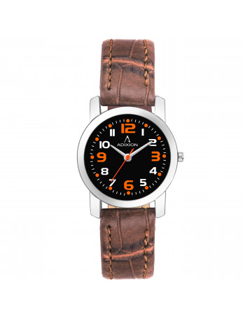 Adixion AD208SL501 New Stainless Steel watch with Genuine Leather Strep