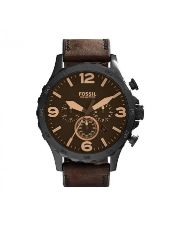 Fossil JR1487 Nate Analog Brown Dial Men's Watch