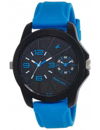 Fastrack Two Timers Analog Black Dial Men's Watch
