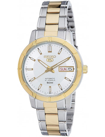 Seiko 5 Analog White Dial Women's Watch