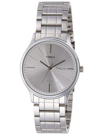 Timex Analog Silver Dial Men's Watch