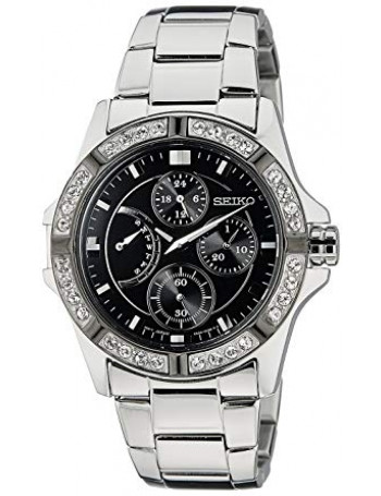 Seiko Lord Chronograph Black Dial Women's Watch