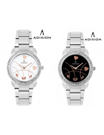 ADIXION 9404SM21C Combo New Stainless Steel Bracelet Watch