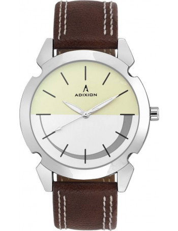 ADIXION 9520SLA2 New Stainless Steel watch with Genuine Leather Strep