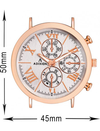 ADIXION 9537WL03 New Leather Strep Chronograph pattern Stainless Steel Youth Watch Watch