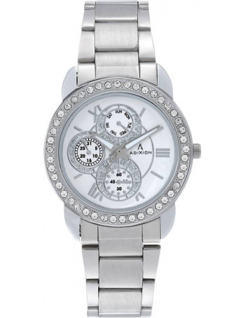 ADIXION 9743SM02 New Stainless Steel watch with Chronograph Pattern Watch