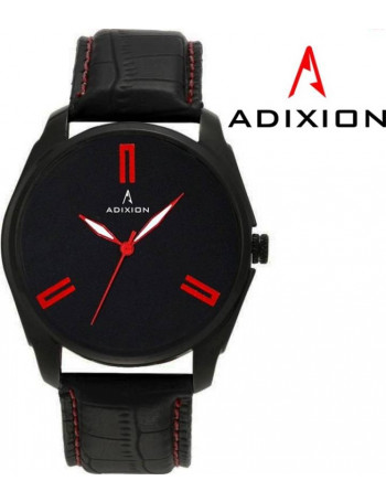 ADIXION AD1013NL01 New Leather Steel Ip Black Pleting WATCH Watch