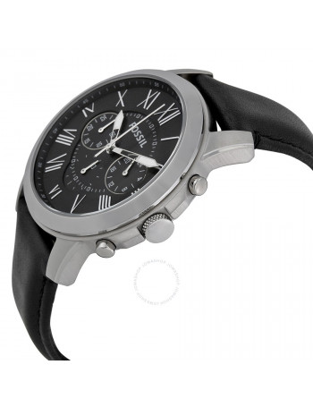 Fossil FS4812 Grant Chronograph Black Dial Men's Watch