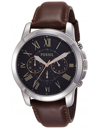 Fossil FS4813 Grant Chronograph Black Dial Men's Watch