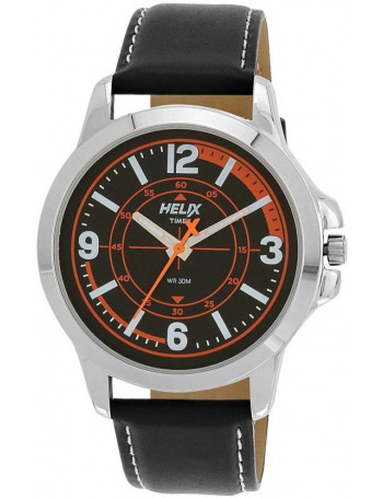 Helix Analog Black Dial Men's Watch